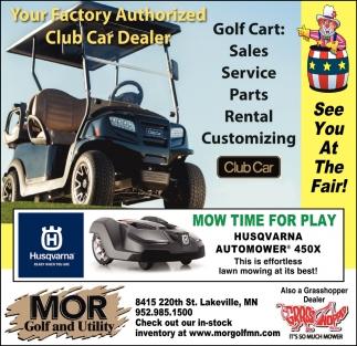 Your Factory Authorized Club Car Dealer