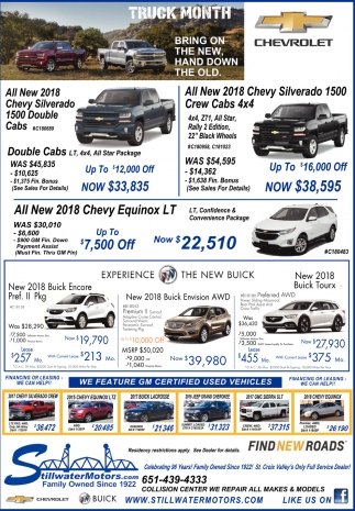We Feature GM Certified Used Vehicles
