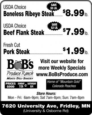 Meats, Deli & Bakery