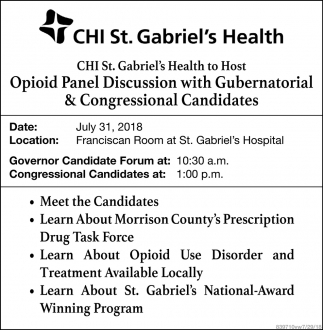 Opioid Panel Discussion with Gubernatorial & Congressional Candidates