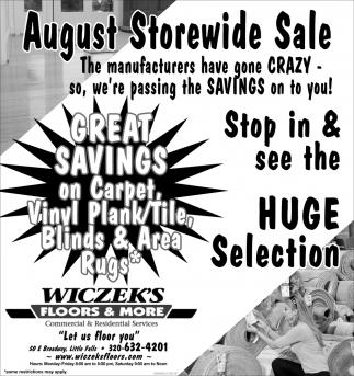 August Storewide Sale