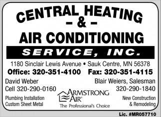 Central Heating & Air Conditioning Service