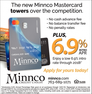 The New Minnco Mastercard Towers Over the Competition