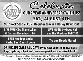 Celebrate Our 2 Year Anniversary with Us!