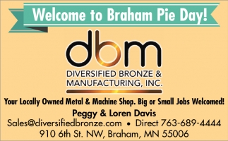 Welcome to Braham Pie Day!