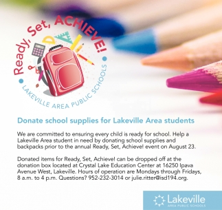 Donate School Supplies for Lakeville Area Students