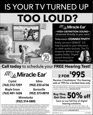 Is Your TV Turnet up too Loud?