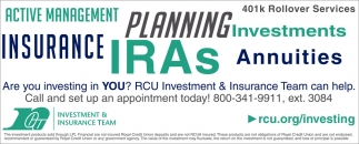 RCU Investment & Insurance Team Can Help