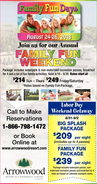 Join us for Our Annual Family Fun Weekend
