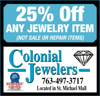 25% OFF Any Jewelry Item