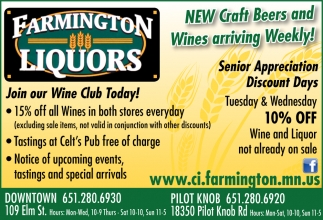 New Craft Beers And Wines Arriving Weekly!