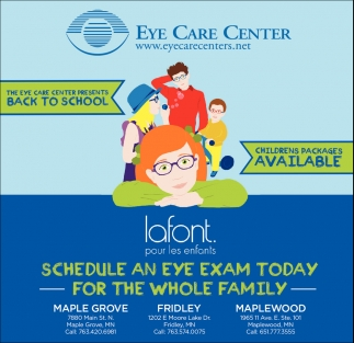 Schedule an Eye Exam Today