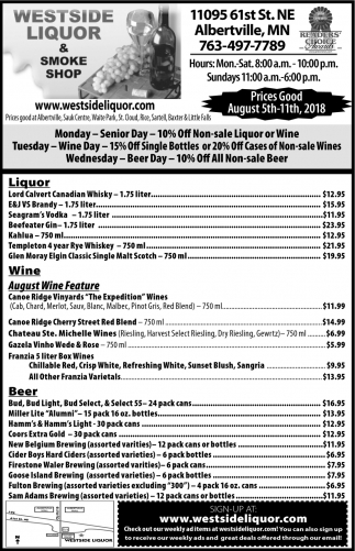 Liquor & Smoke Shop