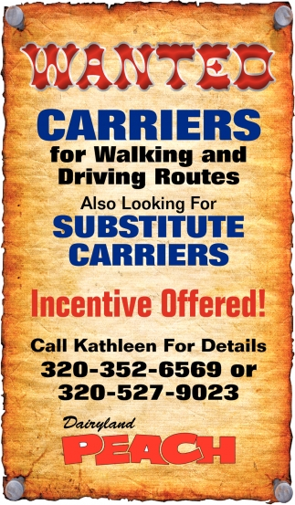 Carriers for Walking and Driving Routes