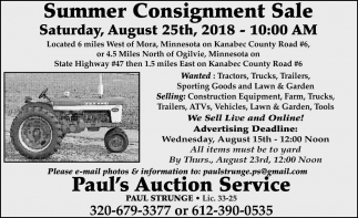 Summer Consignment Sale