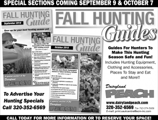 Fall Hunting Guides