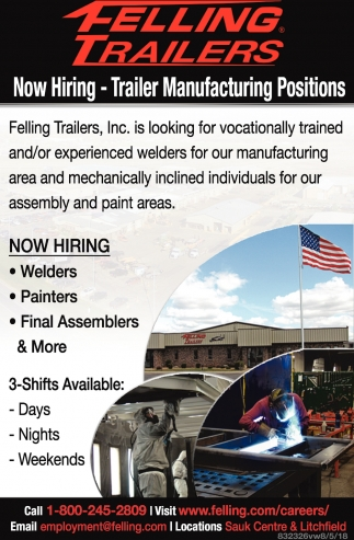 Trailer Manufacturing Positions