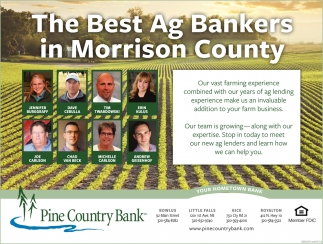 The Best Ag Bankers in Morrison County