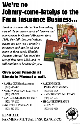 Give Your Friend at Elmdale Mutual a Call