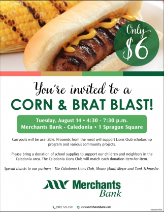 You're Invited to a Corn & Brat Blast!