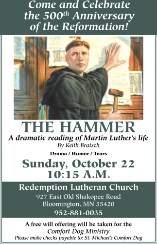 Come And Celebrate The 500th Anniversary Of The Reformation!