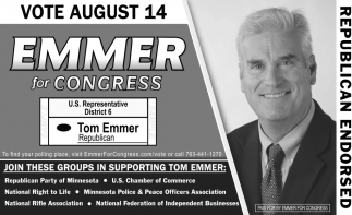 Vote August 14 Emmer for Congress