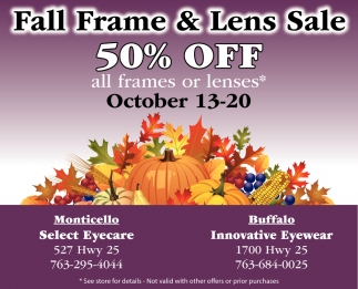 Fall Frame And Lens Sale