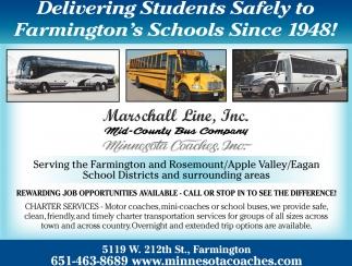 Delivering Students Safely to Farmington's Schools Since 1948!