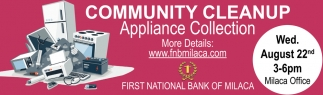 Community Cleanup Appliance Collection