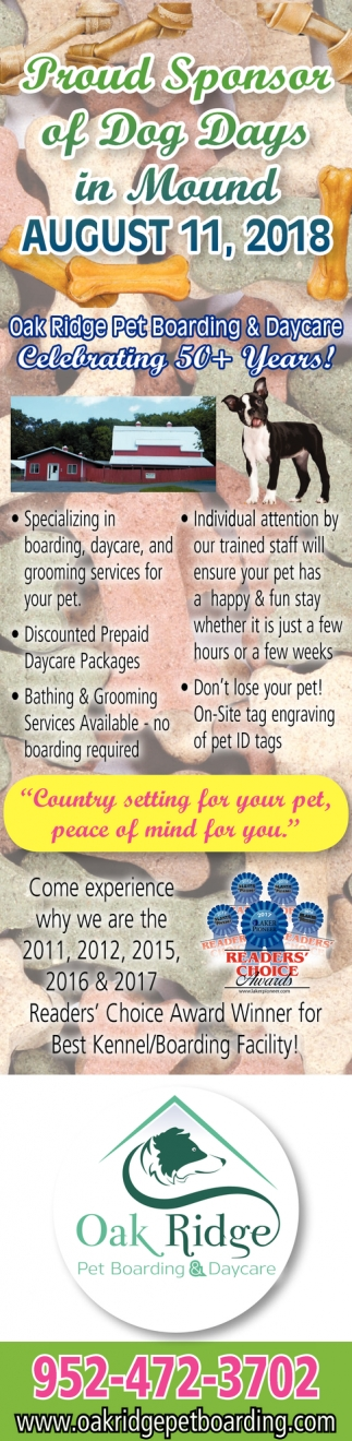 Proud Sponsor of Dog Days in Mound