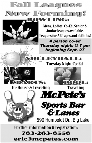 Fall Leagues Now Forming!