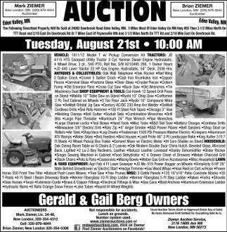Auction Tuesday, August 21st