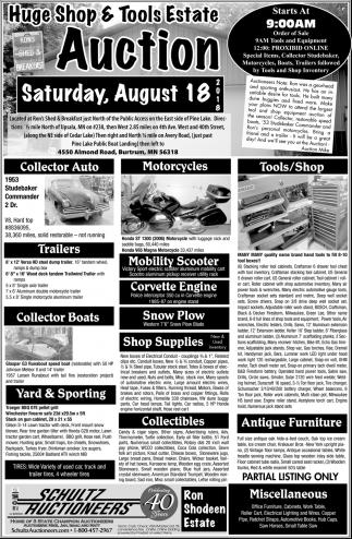 Huge Shop & Tools Estate Auction