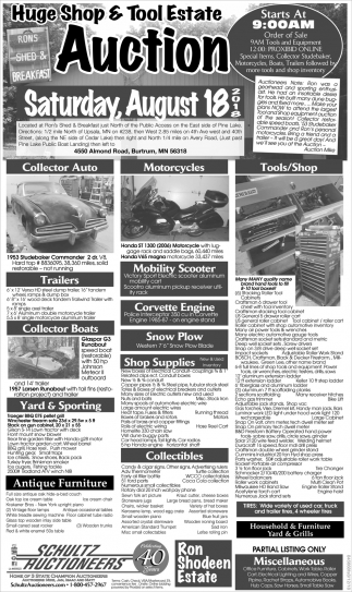 Huge Shop & Tool Estate Auction