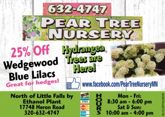 Ads For Pear Tree Nursery In Little Falls Mn