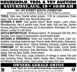 Household, Tool & Toy Auction