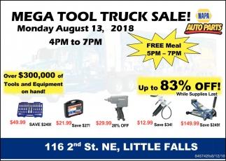 Mega Tool Truck Sale!