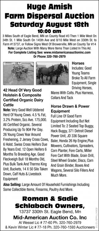 Huge Amish Farm Dispersal Auction