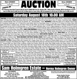 Auction Saturday August 18th