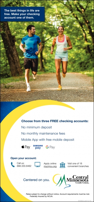 Choose from Three FREE Checking Accounts