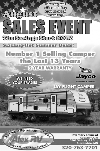 August Sales Event