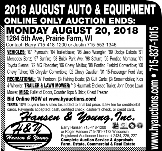 August Farm & Construction Auctions