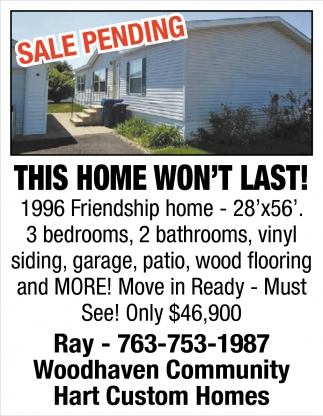 This Home won't Last!