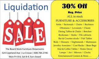 Liquidation Sale The Board Store La Crosse Wi