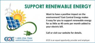 Support Renewable Energy