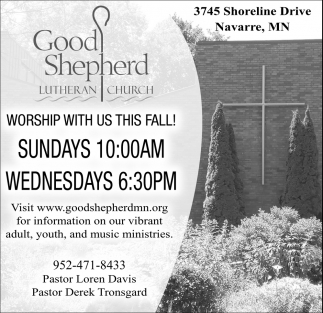 Worship with Us this Fall!