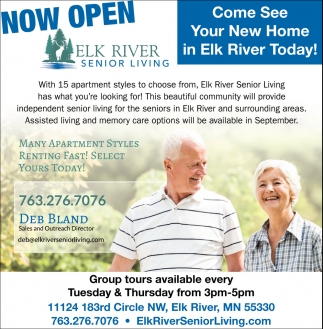 Come See Your New Home in Elk River Today!