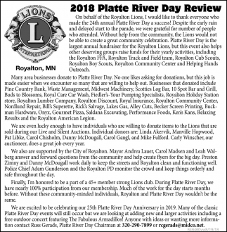 2018 Platte River Day Review