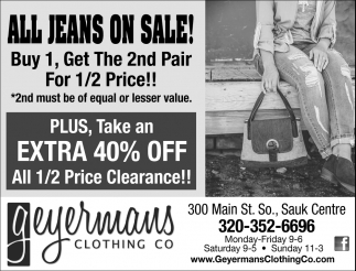 All Jeans on Sale!