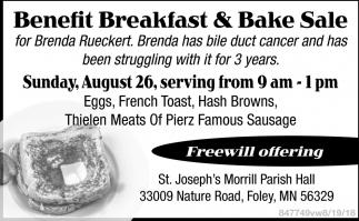 Benefit Breakfast & Bake Sale